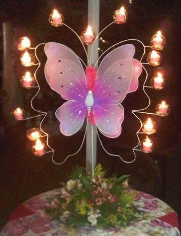 centros de mesa de hadas con velas