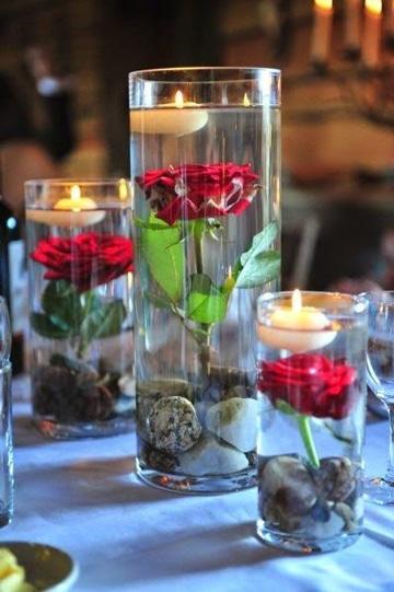 centros de mesa para aniversario romantico