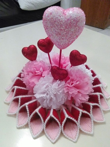 centros de mesa para san valentin de corazones