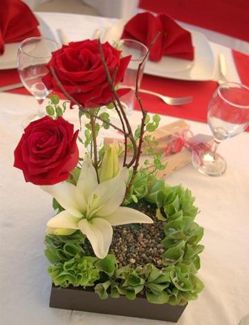 centros de mesa para san valentin romanticos