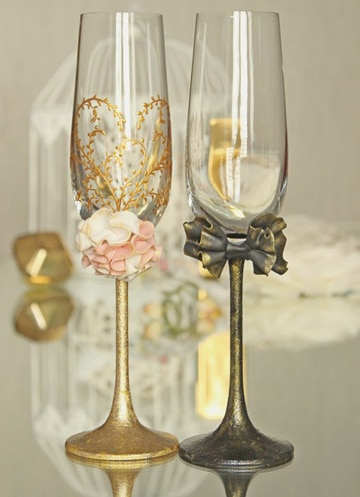 como adornar copas para boda ideas decoracion