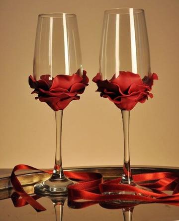 como adornar copas para boda super bonitas