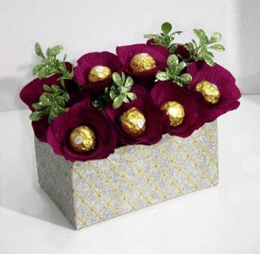 flores para regalo de cumpleaños con chocolate