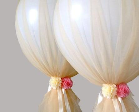 globos decorados con tul bonitos