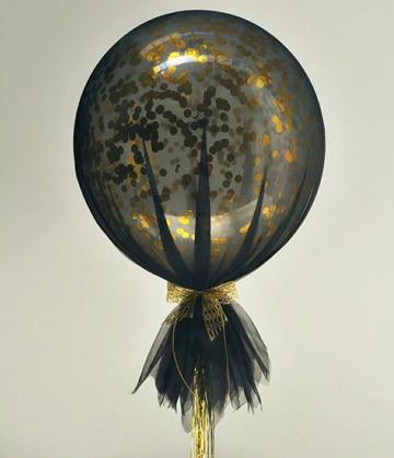 globos decorados con tul sencillos