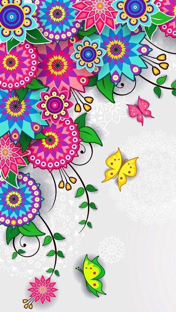 imagenes de flores de colores mandala
