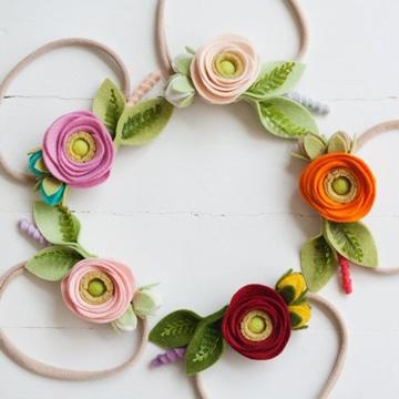 imagenes de flores de colores tejidas