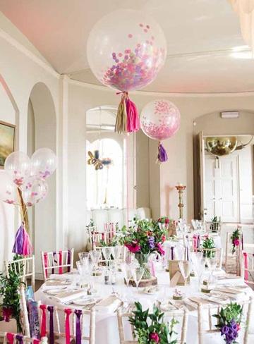 imagenes de globos de helio decorados