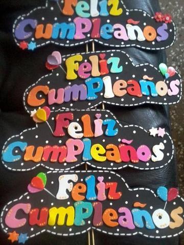 letras para carteles de cumpleaños de colores