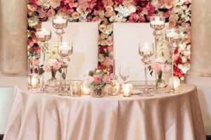 Extraordinarios decorados de mesas principales para bodas