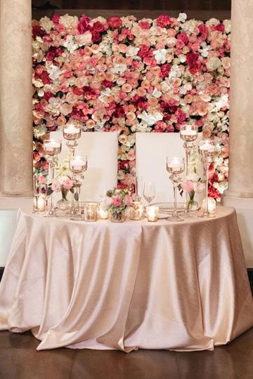 mesas principales para bodas con flores