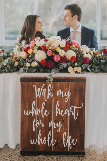 mesas principales para bodas en casa