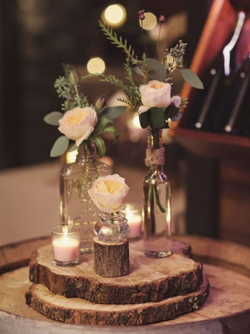 velas decoradas para boda estilo country