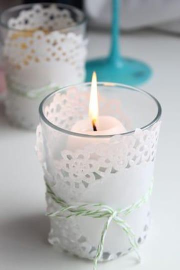 velas decoradas para boda pequeña