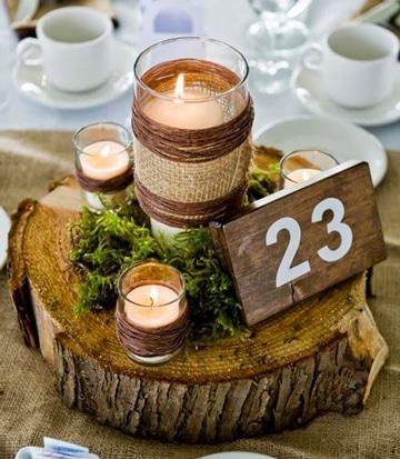 velas decoradas para boda vintage