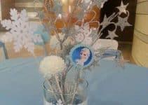 Imagenes e ideas de adornos para fiesta de frozen