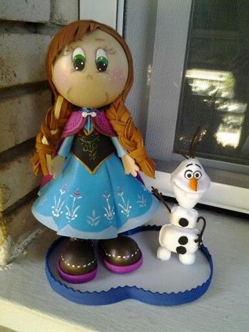 adornos para fiesta de frozen manualidades