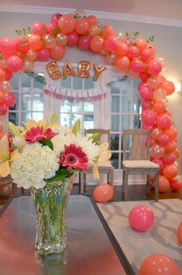 arcos de globos para baby shower super lindos