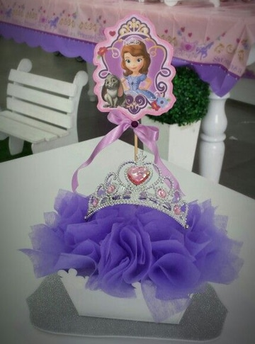 arreglos de la princesa sofia decorativos