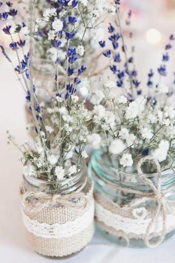 arreglos de mesa para boda civil estilo campestre
