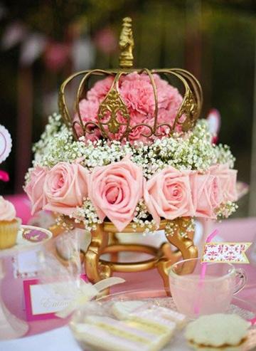 carrozas para centros de mesa con rosas