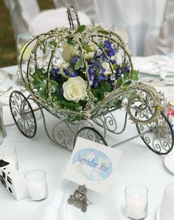 carrozas para centros de mesa en eventos