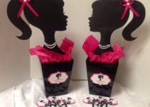 Ineditos centros de mesa de barbie para fiestas de niñas