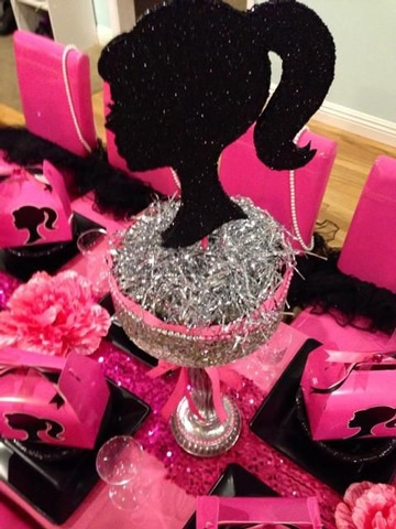 centros de mesa de barbie para cumpleaños