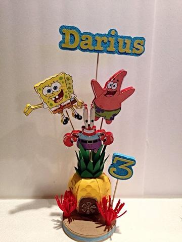 centros de mesa de bob esponja para cumpleaños