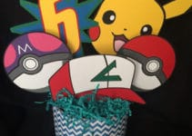 Ideas para originales centros de mesa de pikachu