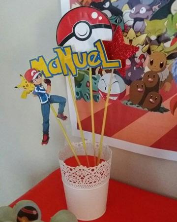 centros de mesa de pikachu personalizados