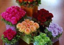 Sencillos y elegantes centros de mesa de rosas