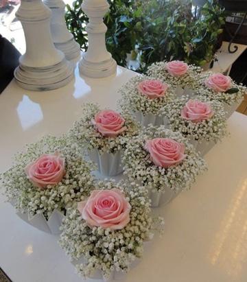 centros de mesa de rosas rosadas