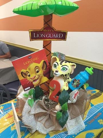 centros de mesa del rey leon ideas