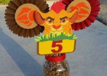 Creaciones manuales y centros de mesa del rey leon
