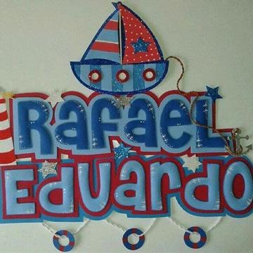 como hacer letras en foami decoradas