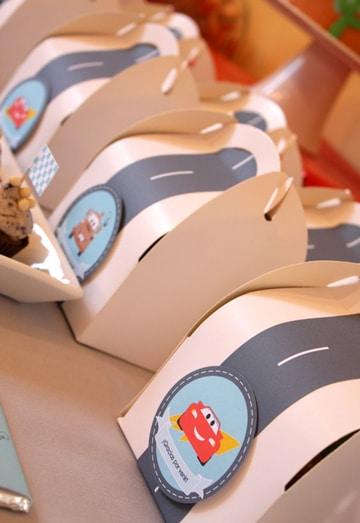 cosas de cars para cumpleaños cajas decoradas