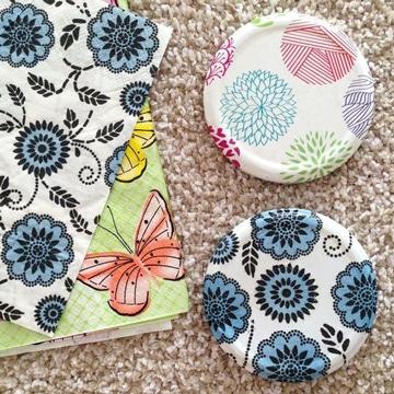 decoracion con servilletas de papel en casa