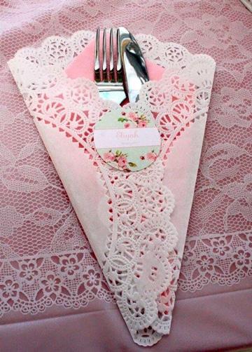 decoracion con servilletas de papel super lindas
