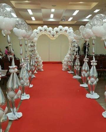 decoracion de globos para matrimonio arcos