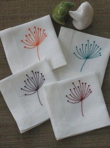 como hacer servilletas de tela bonitas