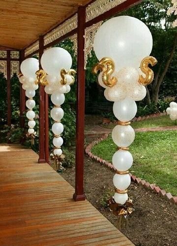 decoracion de globos para matrimonio en casa
