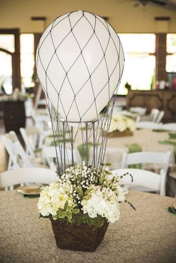 decoracion de globos para matrimonio en mesa
