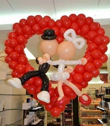 decoracion de globos para matrimonio super lindos