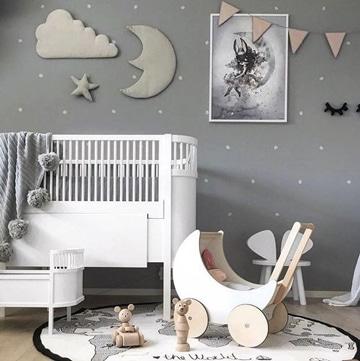 decoracion de paredes para bebes ideas sencillas