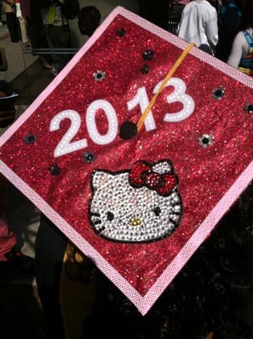 fiesta tematica de hello kitty de graduacion