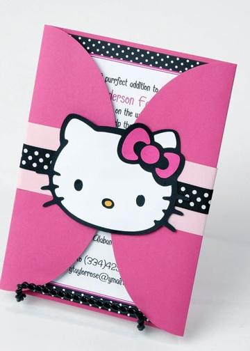 fiesta tematica de hello kitty ideas invitacion