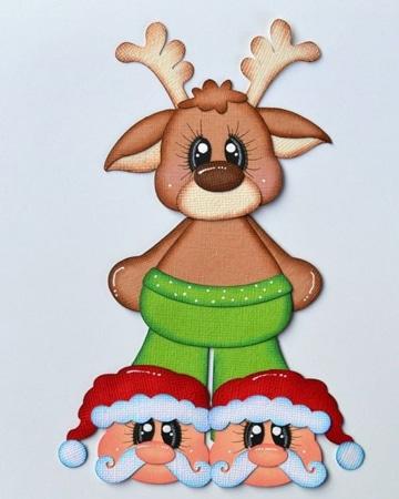 figuras de fomi para navidad decoradas