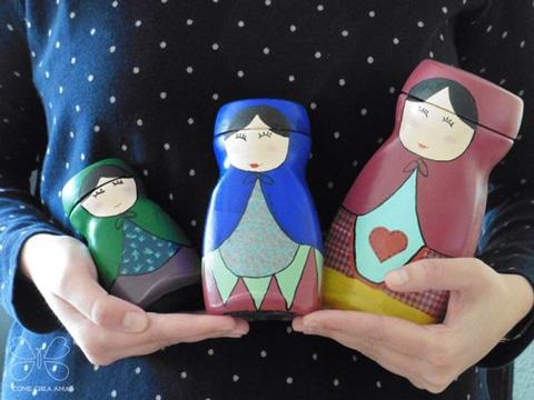 frascos de nescafe decorados para hogar