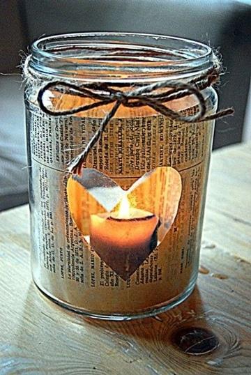 frascos decorados vintage romantico